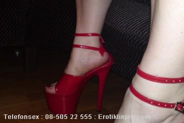 Telefonsex beskrivning: Sexiga högklackade skor
