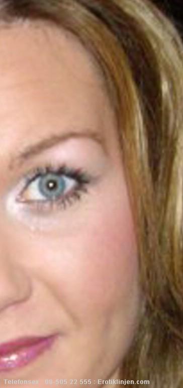 Telefonsex beskrivning: Stora vackra ögon med en riktigt kåt blick, det finns bakom telefonen ;)